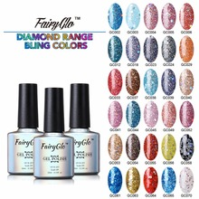 FairyGlo 10ml Bling Nail Gel Polish 1pcs Gel Lak UV LED Lamp Soak off Gel Polish 30 Colors Vernis Semi Permanent Gelpolish Lak