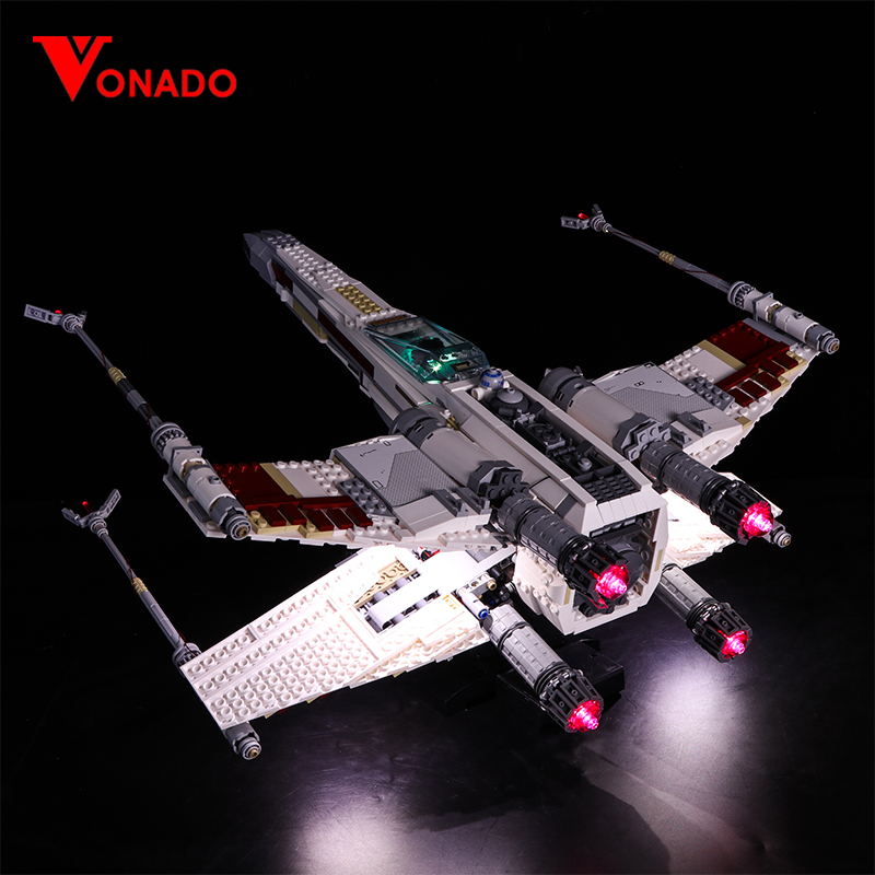 Led Light For Lego 10240 X Wing Red Five Star War Fighter Compatible 05039 Building Blocks Bricks Toys (only Light+Battery Box)