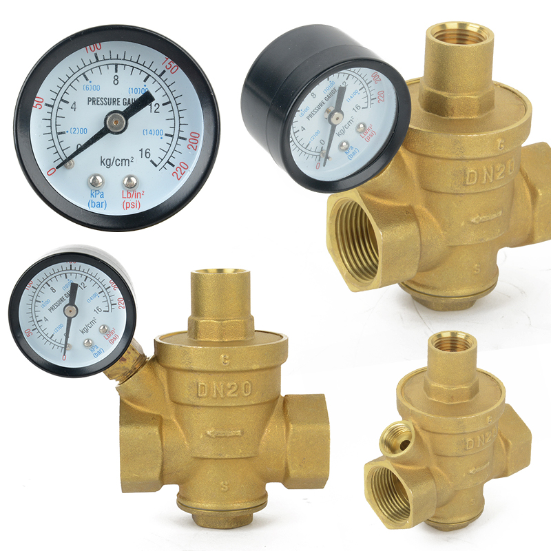 Brass DN20 3/4 Bspp Water Pressure Reducing Valve Pressure Gauge Regulator Valves With Tap Water Pressure Reducing Valve 10bar opening pressure safety valve ya 20 3 4 ake 1mpa ultifittings com