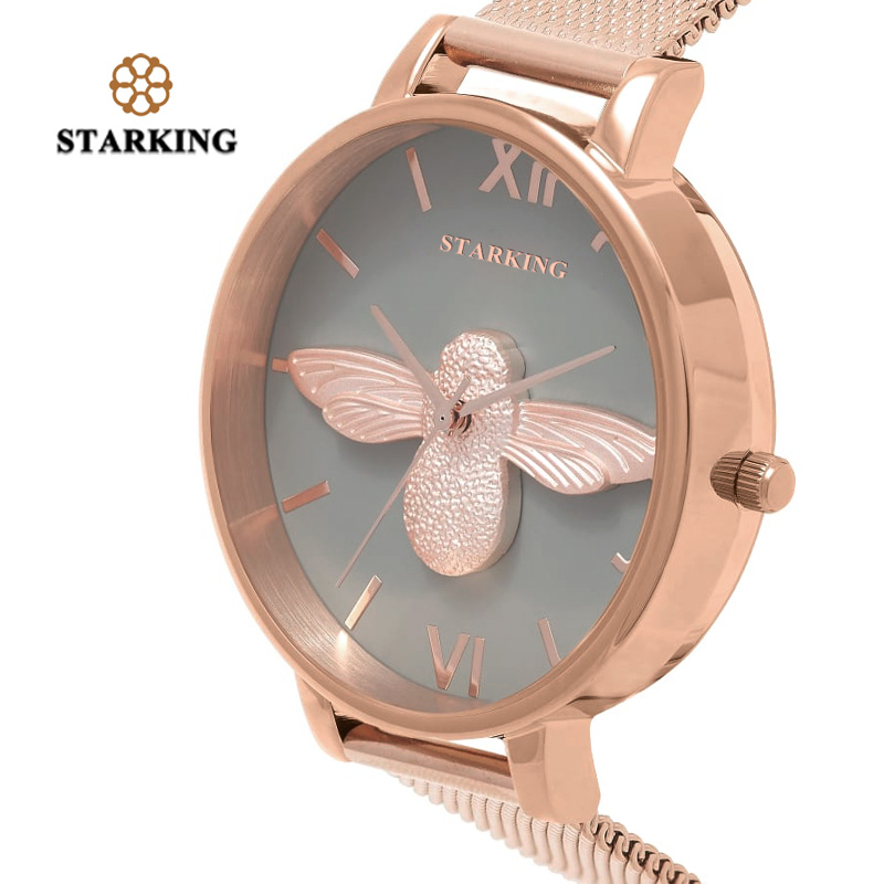 STARKING 30m Waterproof Rose Gold Watch Women Quartz Watches Steel Ladies Top Brand Luxury Female Wrist Watch Girl Clock Relogio reloj mujer 2017 watch top brand luxury ladies watches womens quartz wrist watch waterproof clock women hours relogio feminino