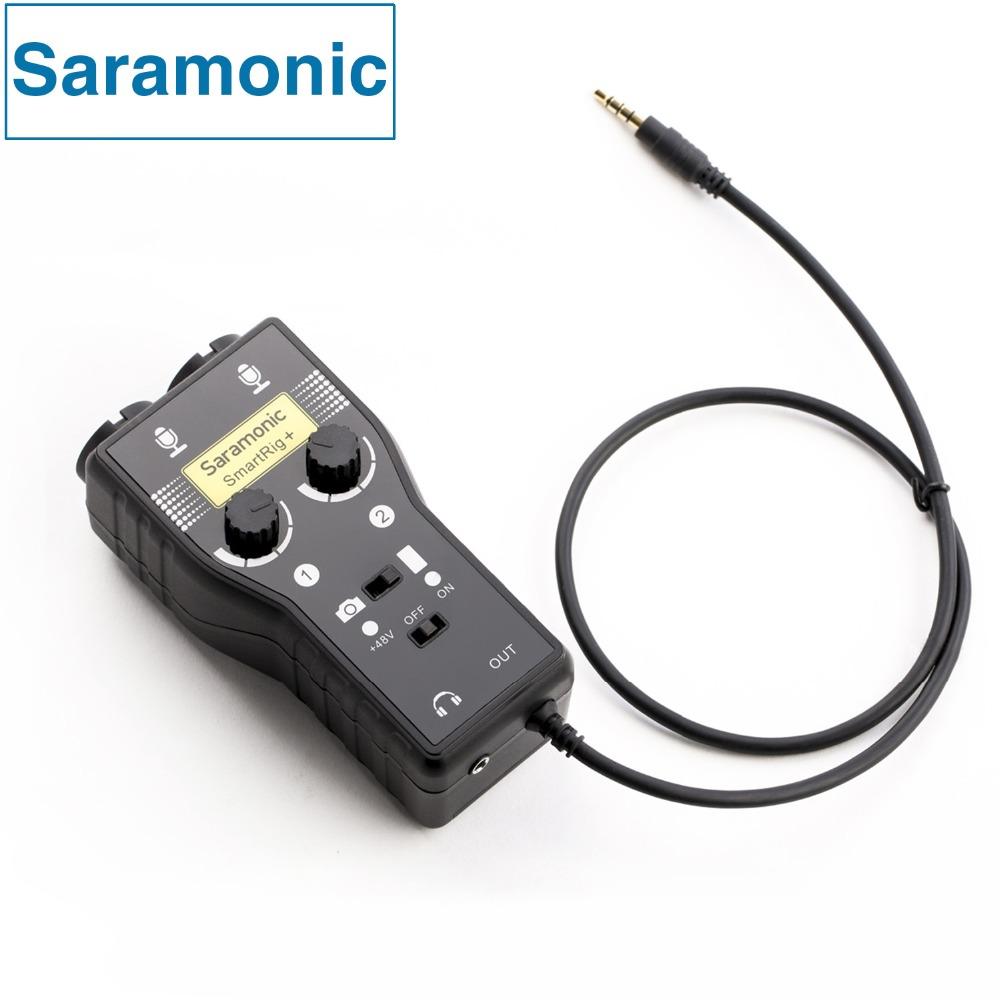 Prix pour Saramonic smartrig + xlr/3.5mm microphone audio mélangeur préampli & guitare interface pour dslr caméra iphone 7 7 s 6 ipad ipod xiaomi