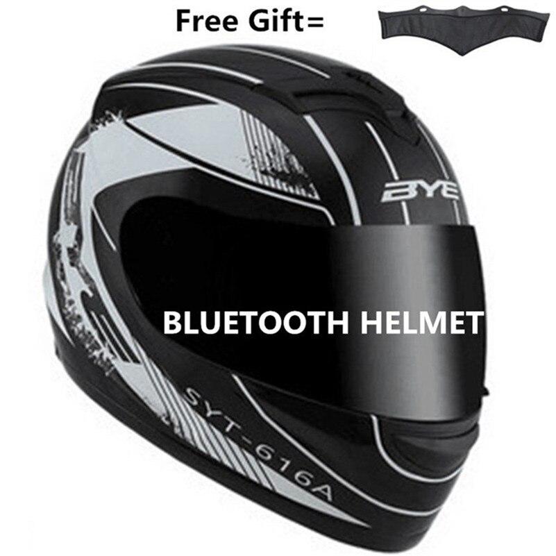 Bluetooth мотоциклетный шлем полный шлем дышащий Capacete Da Motocicleta шлем для верховой езды Cascos Para Moto шлем для мотокросса