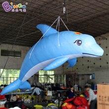 13ft гигантский надувной Дельфин, цифровой печати синий надувной дельфин, большой Дельфин надувной для украшения игрушки