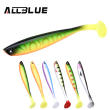 ALLBLUE LUKA 3D SOFT SWIN Fishing Lure 10g/12cm Soft Bait 4pcs/lot Shad Silicone Bass Pike Minnow Swimbait Jigging Plastic Lure