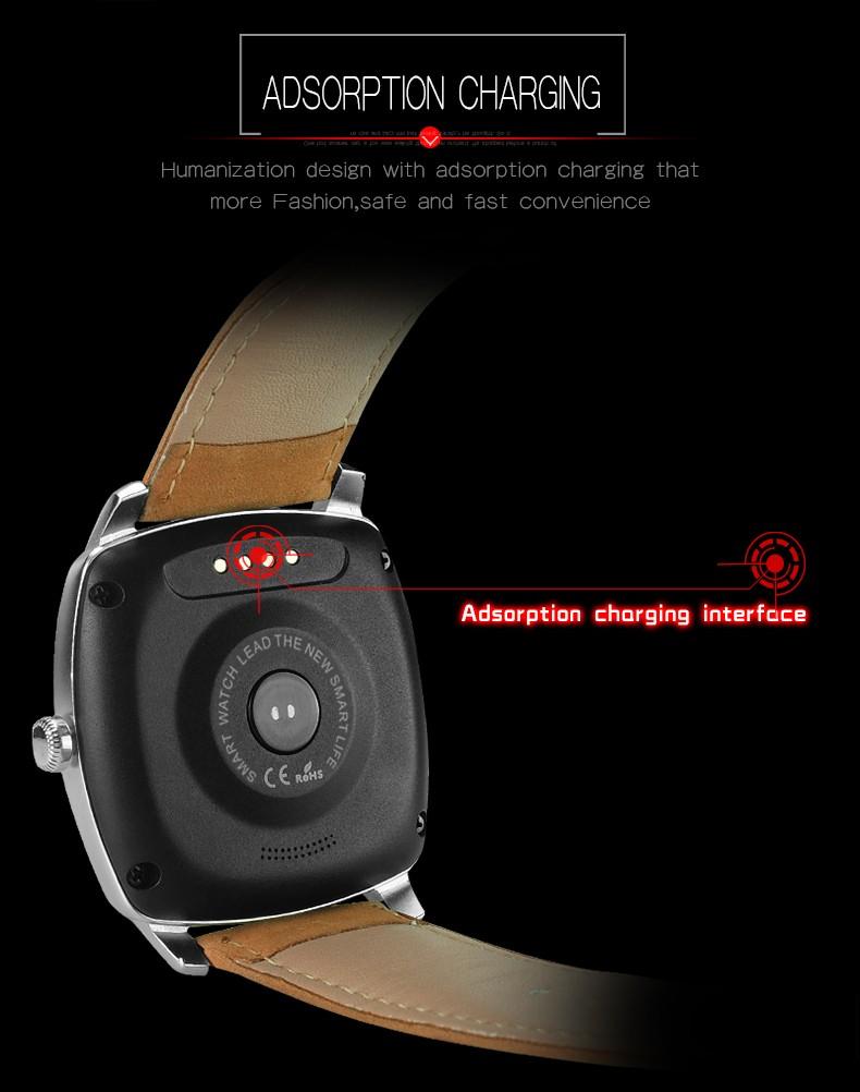 ถูก บลูทูธหุ่นยนต์ดูสมาร์ทS Mart W Atchกันน้ำอัตราการเต้นหัวใจอิเล็กทรอนิกส์สมาร์ทดูสำหรับS Amsung G Alaxy S7ขอบS6ขอบS5 S4