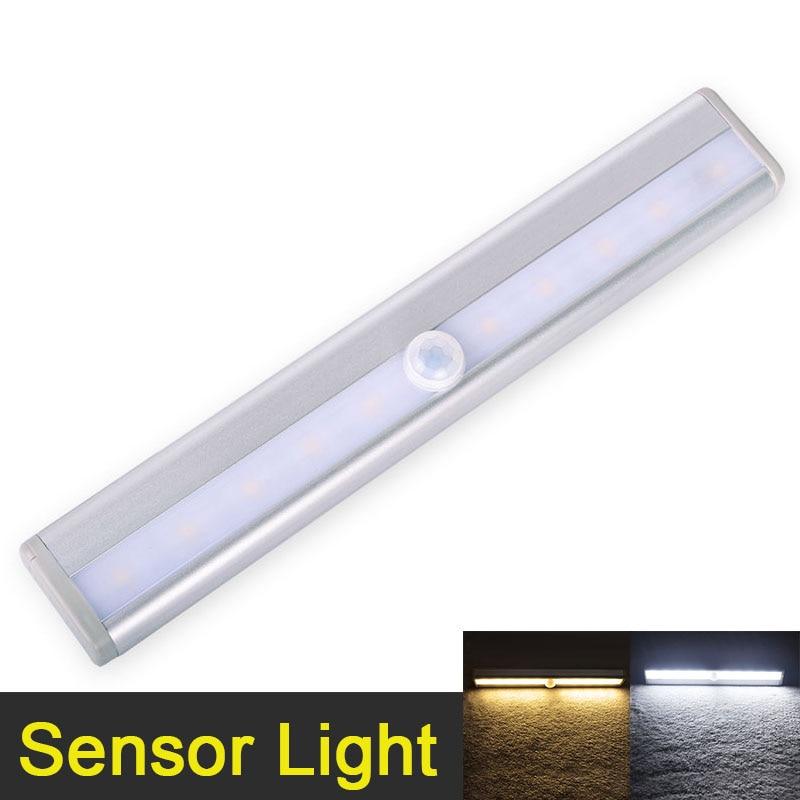 Led-nachtlicht 10 LED Anto Motion Sensor Closet Kabinett Licht Drahtlose IR Infrarot Induktion Nacht Lampe Küche Treppe Beleuchtung