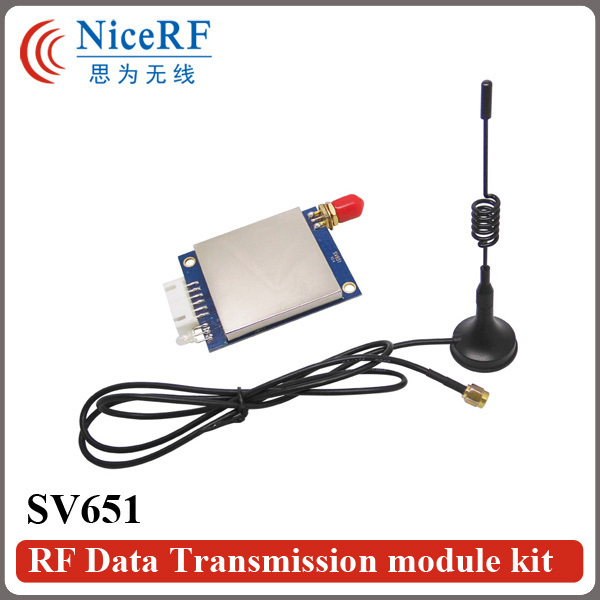 1piece 500mW 433MHz wireless transceiver module SV651+ 1piece sucker antenna (cable length 1Meter) for free shipping