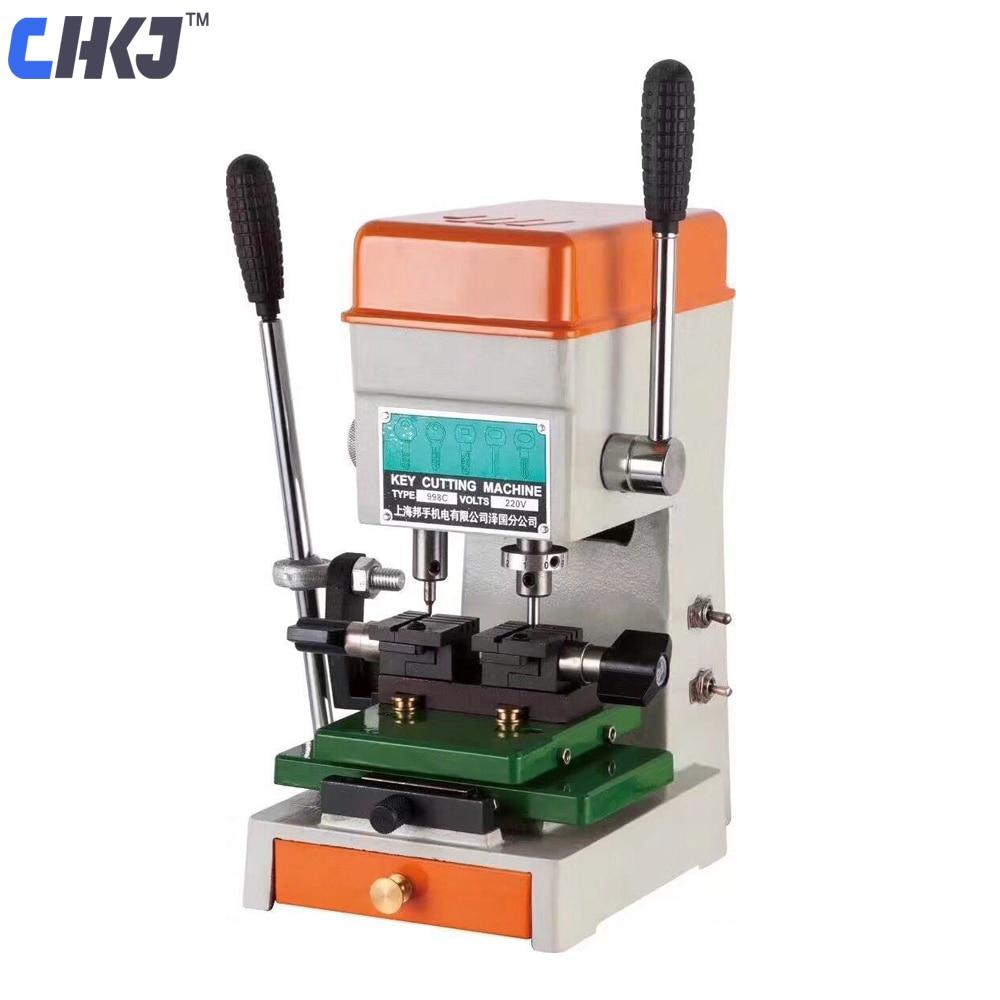CHKJ 998C Haute Professionnel Universel Clé Machine De Découpe 220 v/50 hz Lock Pick Set Outils Double de La Clé machine de découpe