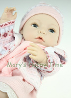 40cm Silicone baby reborn dolls toys for sale high end handmade reborn babies doll kits girls play house toy