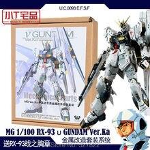 Detalles de Metal para Bandai 1, 100 MG, nuevo Kit de modelos Nu V Gundam ver Ka, regalo de cumpleaños para niños, envío gratis