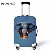 INSTANTARTS Funny 3D Animal Elephant Shark Tiger Print Luggage Protective Covers Thicken Dust Rain Cover For