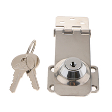 Twist Knob Keyed Locking Hasp Safety Hasp Lock for Marine Boat Gate & Cabinets 3.1 x 1.2 inch