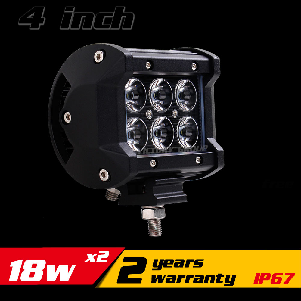 4 Inch 18w LED Work Light Bar IP67 for Motorcycle Tractor ATV 4X4 Offroad Fog Light Driving Light Saveon 27w External Light