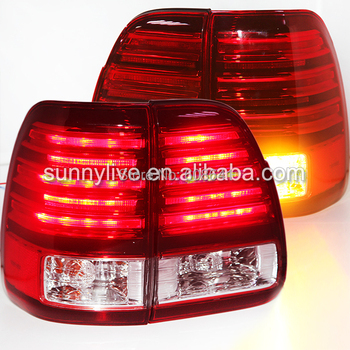 For Lexus CYGNUS LX470 LED Tail Light Rear Lamp 1998-2007 year Red White