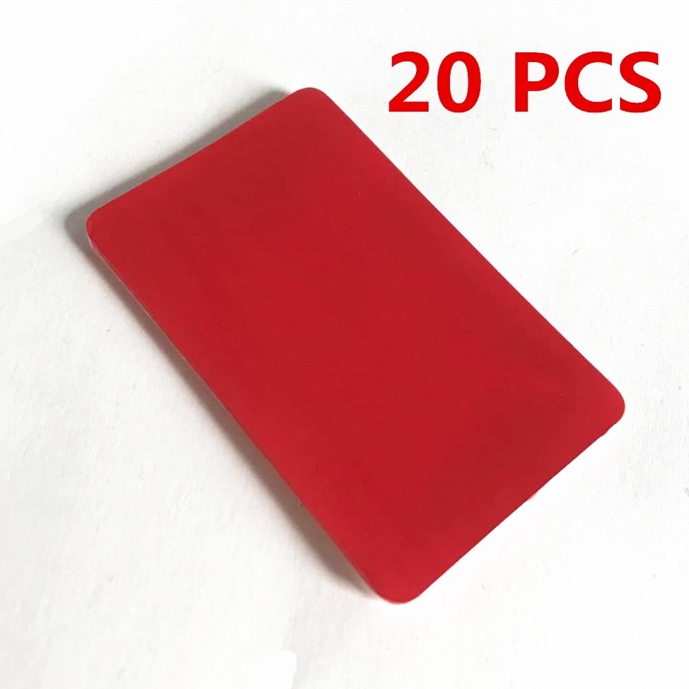 READXT 10/20 Pieces Front Windshield Sticker Rain Sensor Rectangle Double Side Transparent Self Adhesive Gel Pad Car Accessories