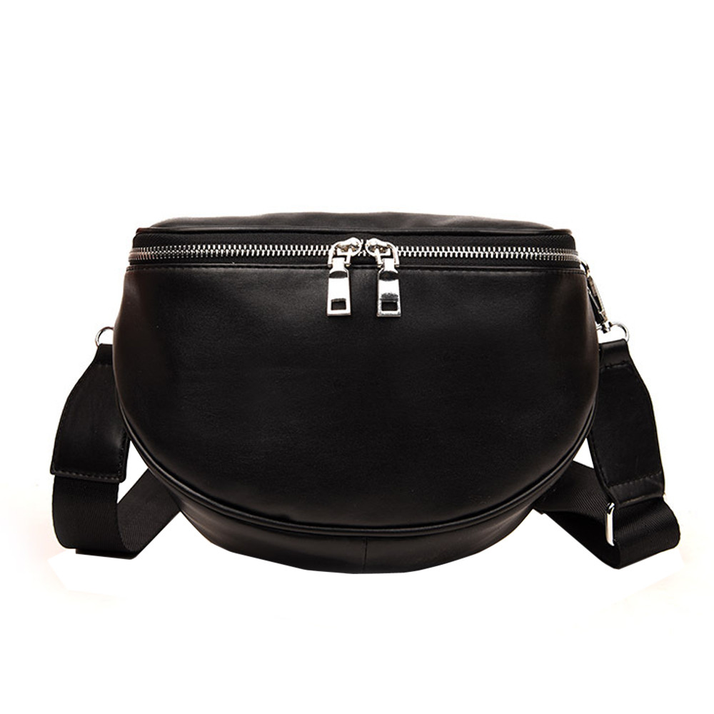 Women\'S Bags Women Pure Color Shell Leather Messenger Shoulder Bag Chest Bag Oc8 40