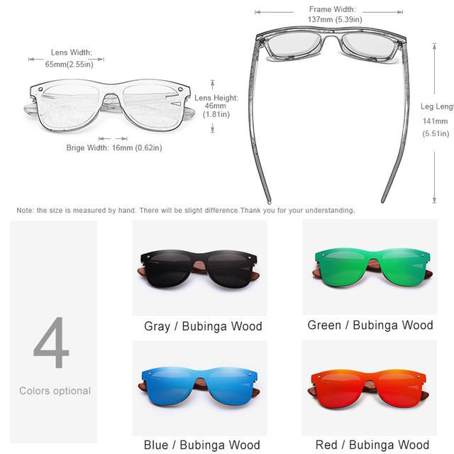 Mens Wood Polarized Sunglasses