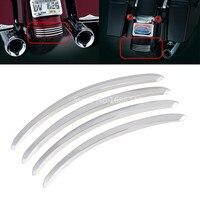 Chrome suave traseiro fender acentos guarnição decorativa se encaixa para harley estrada glide rua fltrx fltrx glide 2006-2013
