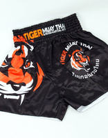 MMA fight short tiger MUAY THAI SHORTS FIGHT SHORTS Muay Thai shorts black/white