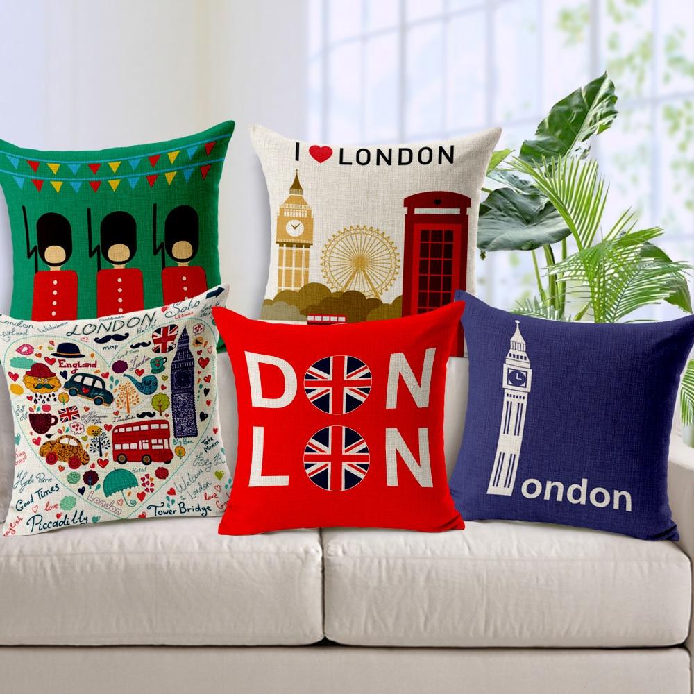 Home Decor Stores London: Aliexpress.com : Buy Union Jack London Linen Cotton