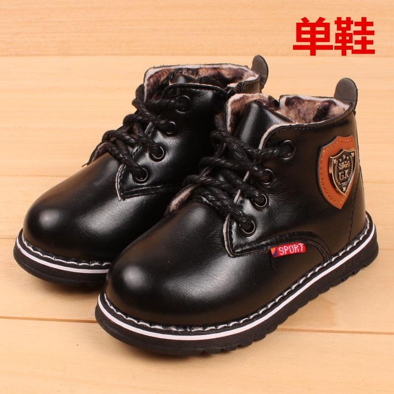 2016 winter soft New Children's Boots Warm Botas For Boys Girls Kids Plush Hand Stitching Cotton Winter Boots Korean version