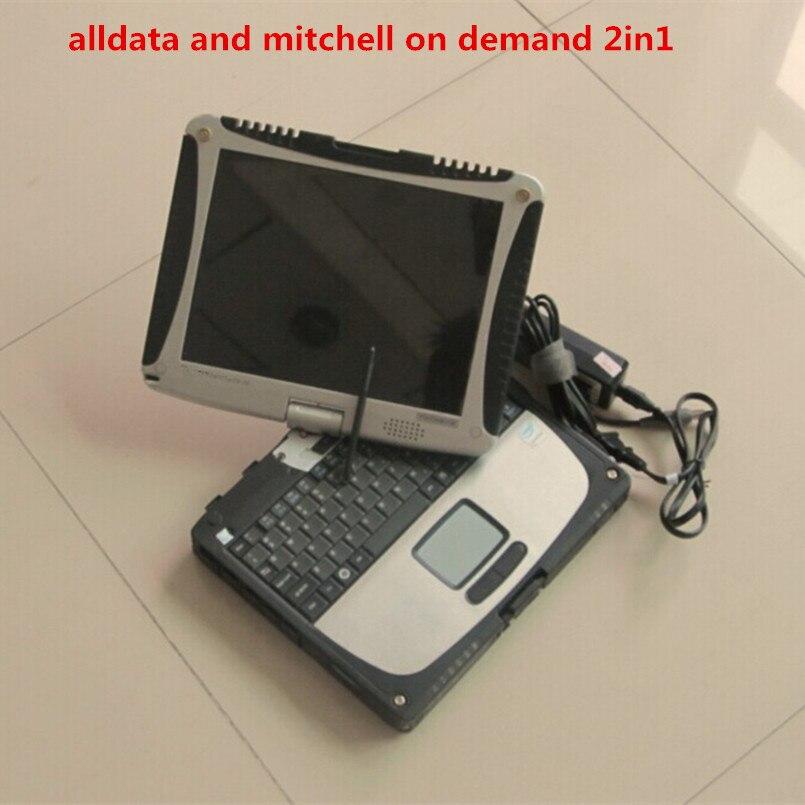 Alldata mitchell sur demande 2018 date installé version portable cf19 tactile écran hdd 1 tb toutes les données 10.53 de réparation automobile logiciel