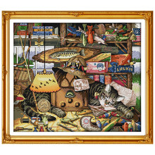 14/16/18/27/28 libera La Nave Dolce Sogno Gatto Contati Punto Croce Animale Punto Croce set Cross-stitch Kit Ricamo Ricamo(China)