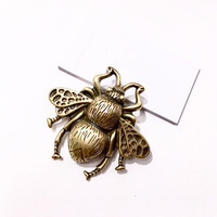 Cute Clear Full Copper Vintage Insect Bee Brooches for Women Charming Vintage Brooch Pin for Her