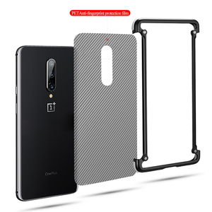 Image 5 - OATSBASF luxury Airbag Metal Case  For Oneplus 7t Case Personality Airbag Shell Metal Bumper Cover For Oneplus 7t pro