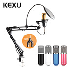 KEXU Professional bm 800 condenser microphone for computer audio studio vocal recording Mic KTV Karaoke + microphone Stand Mic