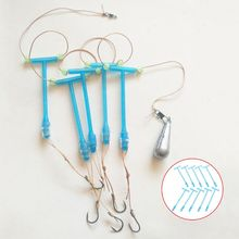 10 Pcs/Set Fishing Hook Hanger Anti Winding Entangle Balance Plastic Holder T Shape Platform Branch Tackle Accessories -H65