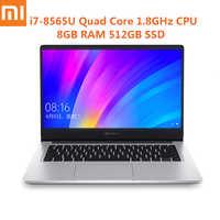 Xiaomi RedmiBook 14 pouces ordinateur portable Win10 Intel Core i7-8565U Quad Core 1.8 GHz NVIDIA GeForce MX250 8 GB 512 GB Ultra-mince ordinateur portable