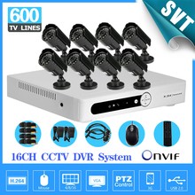 Home 16CH CCTV DVR system 8ch 600tvl DayNight outdoor camera video surveillance systems 16 channel security kit SK-210