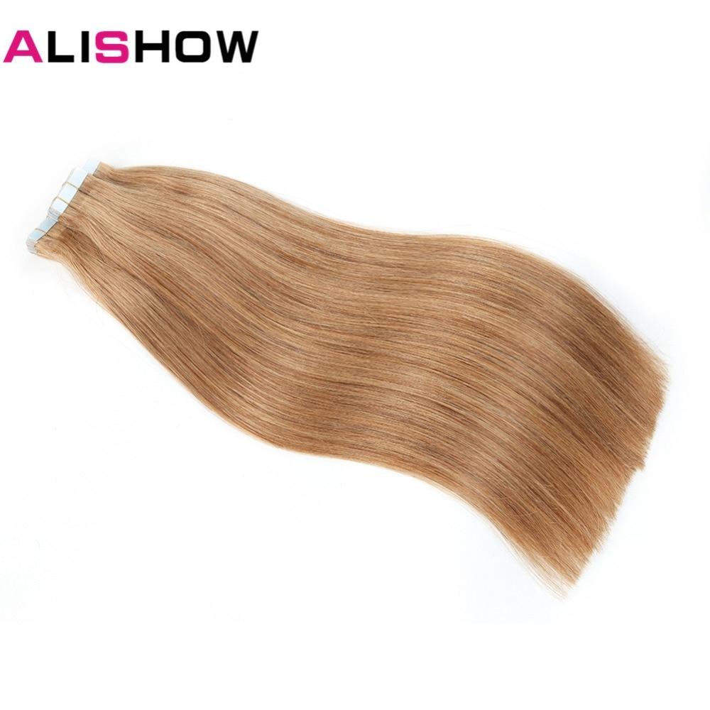 Alishow Remy Menschenhaar Extensions 20 Stücke Haar Extensions Gerade Haar Bündel Band In Menschliches Haar Extensions 20 Zoll