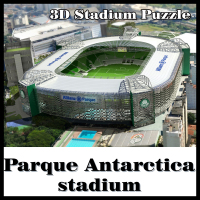 3D Puzzle Football Stadium Palmeiras Stadium Palmeiras SP Souvenir Puzzle Model Games Toys Halloween Christmas