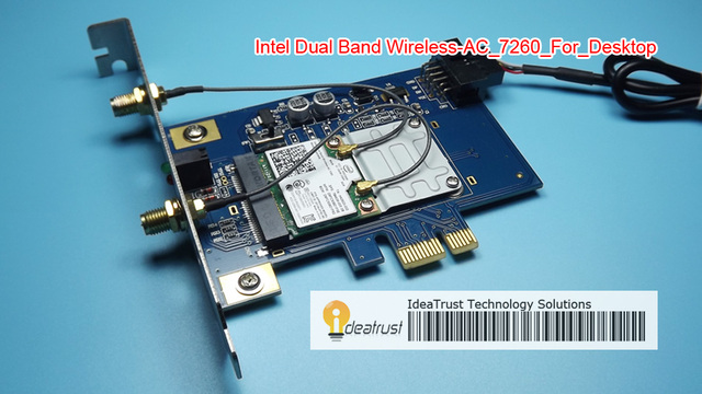 Nova marca para Intel7260 7260AC 7260HMW 2.4 & 5G 867 M PCI-E 1X PCIe BT4.0 WiFi Placa de Rede Sem Fio para o desktop