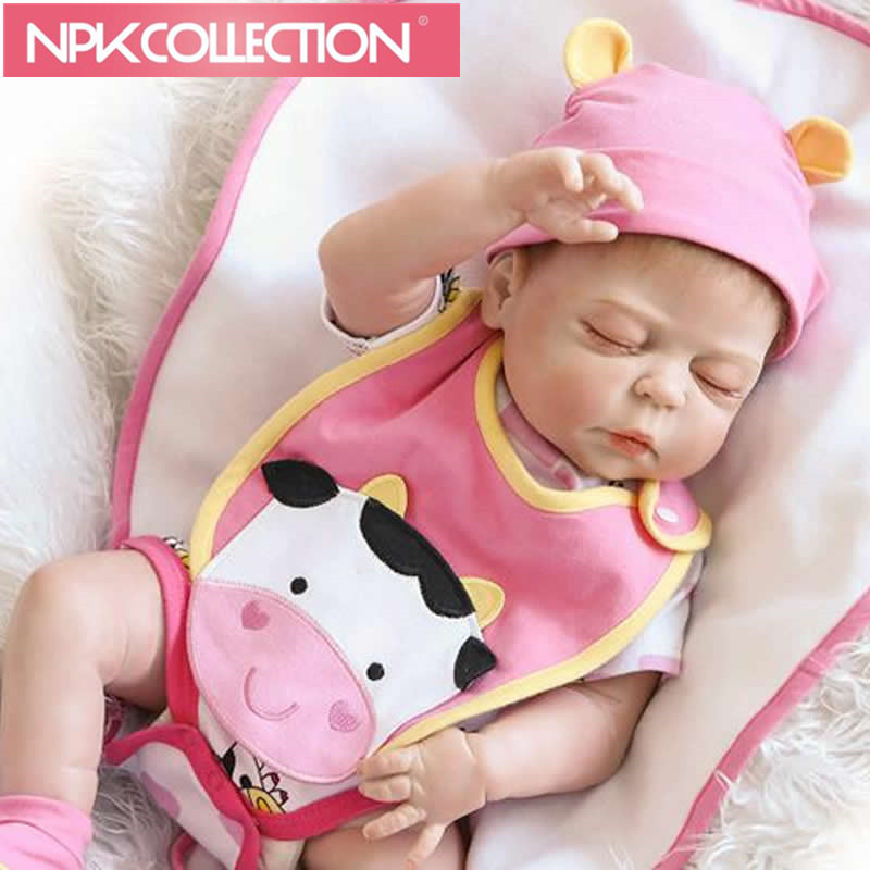 Real Lifelike Reborn Baby Doll 23 Inch Full Silicone Vinyl Newborn Babies Brinquedo do Bebe Kids Birthday Christmas Gift N147 christmas gifts in europe and america early education full body silicone doll reborn babies brinquedo lifelike rb16 11h10