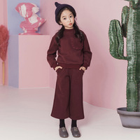 cotton fleece christmas clothes for girls clothing set teenage little girls winter suit sweatshirts wand pants 2 pieces kids set