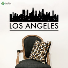 YOYOYU Wall Decal High Quality Los Angeles Skyline Sticker Removable Kids Bedroom Poster Creative Interior Home Decor CY323