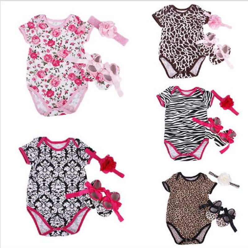2016 Summer Baby Girls Clothes Cotton Toddler Girl Clothing Sets Meisjes Infantil Vetement Minnie Fille Clothing 3 Piece of 1set