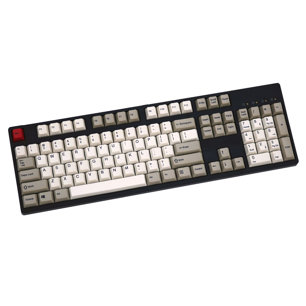 Retro Styl Grey/Beige 108/129 keys dye sublimated pbt keycap for mechanical keyboard Cherry Filco Ducky keycap Cherry profile