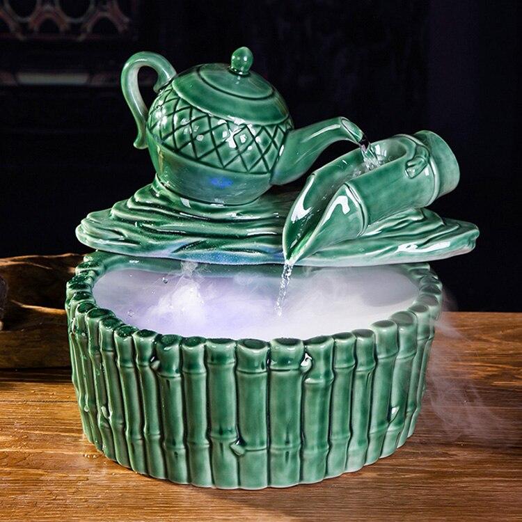 cermica fuente de agua decoracin de la habitacin de agua creativo feng shui suerte decoracin del hogar decorac