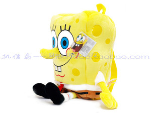 Image 2 - Cute 3D Cartoon SpongeBob Plush Bag Kindergarten Preschool Backpacks Children School Bags for Boys Girls Kids Bag Schoolbag