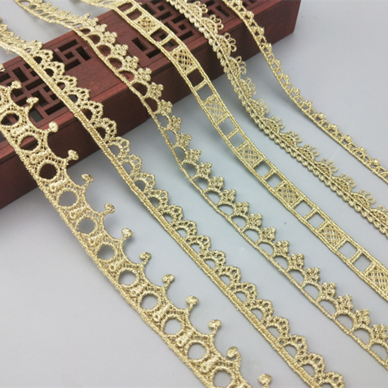 15mm glitzy metallic gold lurex piping pipe braid trim christmas decoration