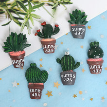 Cartoon Vetplant Emaille Pin Metal Broche Mini Groene Plant Ingemaakte Cactus Knop Broches Denim Jassen Kraag Badge Pinnen(China)