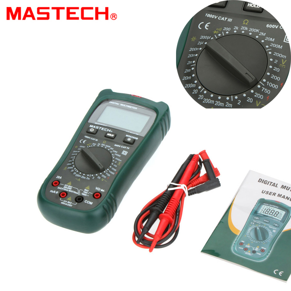 Mastech MS8260B Digital Multimeter DMM VOLT STICK Tester Electrical LCR Meter Non-contact voltage Detector