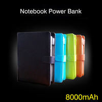 New Arrival 8000mAh Power Bank With Notebook And Card Slot Function High Quality Powerbank For IPhone