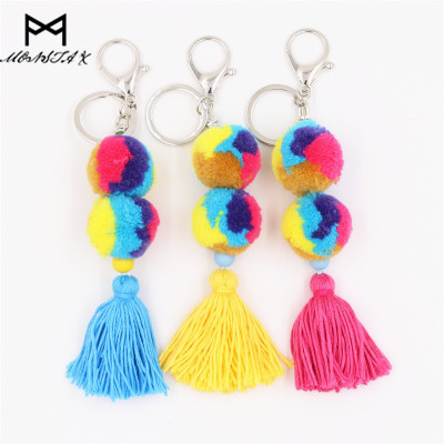 MONSTA X Colorful Pompones Cute Pom Pom Tassels Pompom For Women Purse Accessories Fashion Jewelry Bag Decoration Pendant