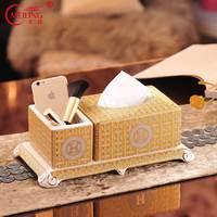 Luxury Porcelain Gold Tissue Box Storage Dispenser For Kitchen Table Bar Restaurant Office Home Decorative Organizer Ceramic Art