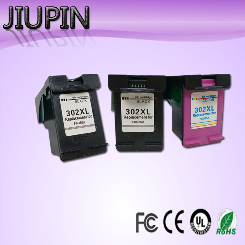 JIUPIN 3PC 302XL Compatible For HP302XL <font><b>ink</b></font> cartridges for <font><b>HP</b></font> <font><b>Deskjet</b></font> 1110 1111 1112 <font><b>2130</b></font> 2131 2132 3630 <font><b>printer</b></font> image